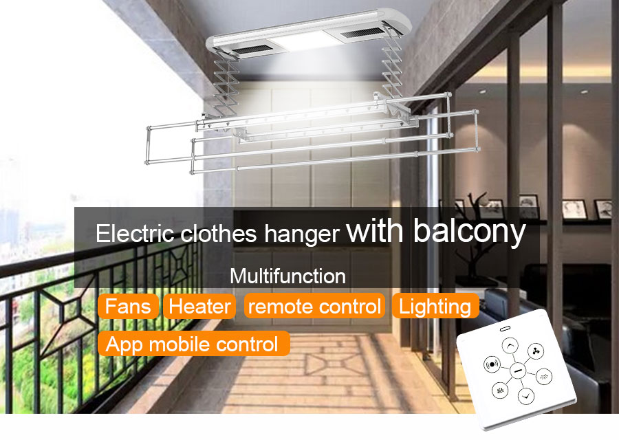 automatic clothes drying rack with remote control